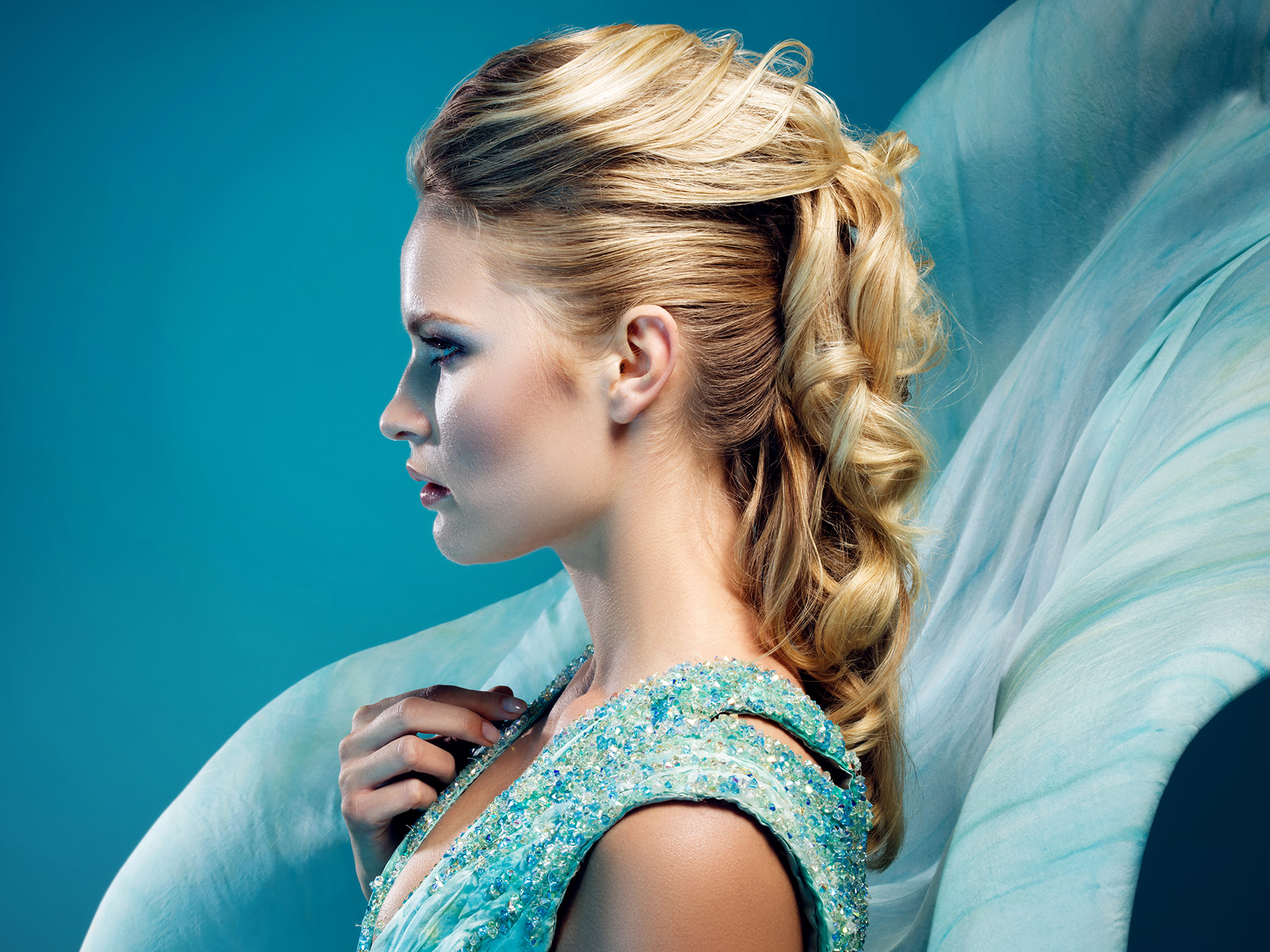 Marco Ribbe Fashion Photography Fotograf Heilbronn haute couture turquoise prom dress