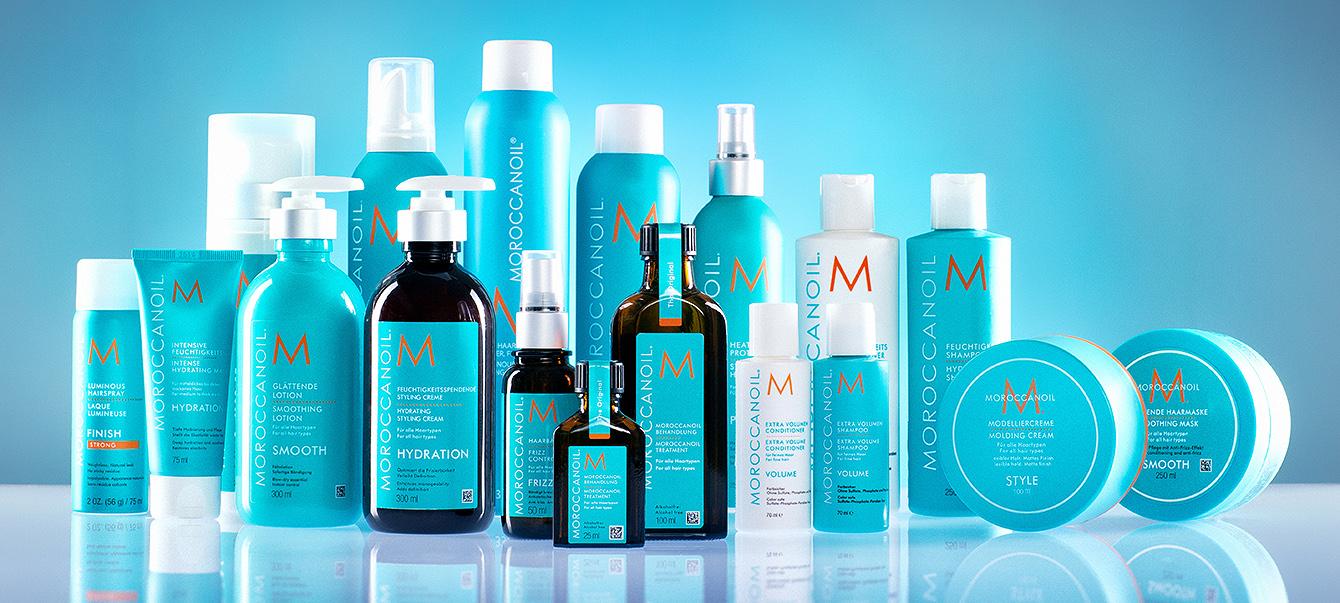 Produktfotografie für Haar und Kosmetikprodukte.