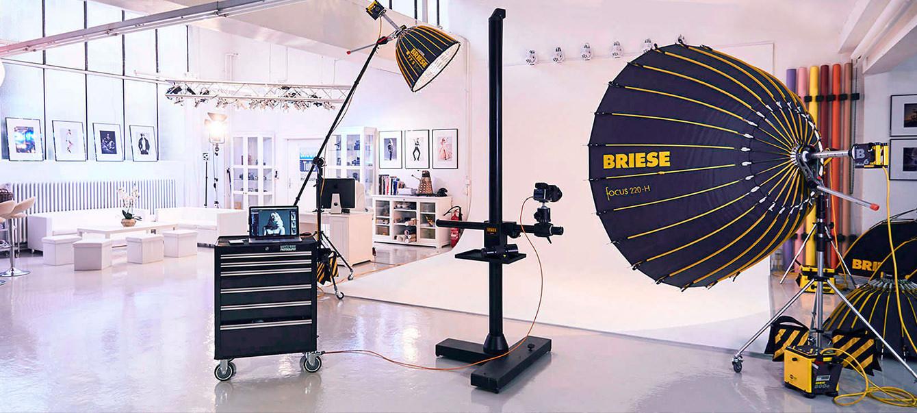 Fotostudio Marco Ribbe mit Briese Lichttechnik.